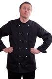 O homem como o cozinheiro está pensando Fotos de Stock Royalty Free
