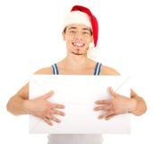 O homem considerável tem um presente para você Foto de Stock Royalty Free