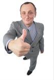 O homem dá o gesto   Fotos de Stock Royalty Free