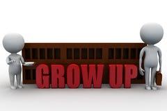 o homem 3d cresce acima o conceito Imagem de Stock