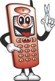 O homem da tosquiadeira do telefone de pilha Imagens de Stock Royalty Free