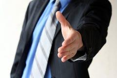 O homem de negócio é disposto cooperar foto de stock