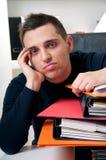 O homem de negócio cansou-se Imagem de Stock Royalty Free