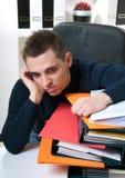 O homem de negócio cansou-se Imagem de Stock