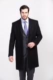 O homem de negócio considerável do escritório com barba vestiu-se no terno elegante, foto de stock