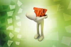 o homem de negócio 3d leva o imposto Imagem de Stock