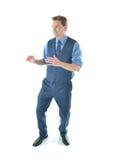 O homem de negócio do karaté Imagem de Stock
