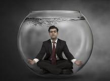 O homem de negócio medita Imagens de Stock Royalty Free