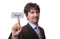 O homem de negócio novo pressiona Imagens de Stock