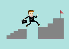 O homem de negócio salta o projeto do vetor Imagens de Stock