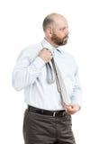 O homem de negócio seleciona o laço Imagens de Stock Royalty Free