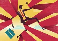O homem de negócios é alcançado na burocracia burocrática Imagem de Stock Royalty Free