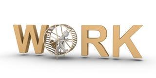 O homem de negócios é prendido para trabalhar sem benefício Imagens de Stock Royalty Free