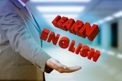 O homem de negócios aprende o inglês ilustração royalty free
