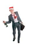O homem de negócios bêbedo Fotos de Stock Royalty Free
