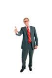 O homem de negócios bem sucedido Foto de Stock