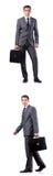O homem de negócios considerável isolado no branco Imagens de Stock Royalty Free