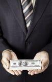 O homem de negócios dá o subôrno Foto de Stock Royalty Free