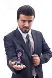 O homem de negócios dá a pausa Imagens de Stock Royalty Free