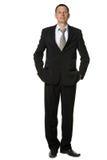 O homem de negócios em um terno preto Imagem de Stock