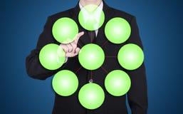 o homem de negócios escolhe a rede vazia do negócio Imagens de Stock Royalty Free