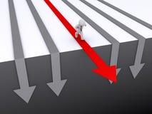 O homem de negócios está correndo no trajeto do sucesso Fotografia de Stock Royalty Free
