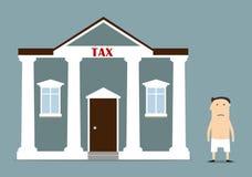 O homem de negócios foi deixado sem o qualquer coisa após impostos Fotografia de Stock Royalty Free