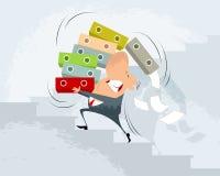 O homem de negócios leva dobradores ilustração do vetor