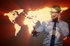 O homem de negócios no conceito do negócio global Imagens de Stock
