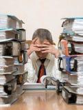 O homem de negócios no escritório Fotos de Stock