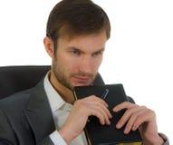Homem de negócios no escritório imagens de stock