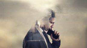 O homem de negócios novo foto de stock royalty free