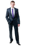 O homem de negócios novo em um terno Foto de Stock Royalty Free