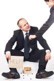 O homem de negócios pede a ajuda Fotos de Stock Royalty Free
