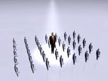 O homem de negócios, quem é a saliência? ilustração royalty free