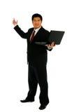 O homem de negócios recomenda fotos de stock