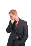 O homem de negócios refletiu Foto de Stock Royalty Free