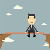 O homem de negócios relaxa no risco ilustração do vetor