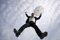 O homem de negócios salta Imagens de Stock