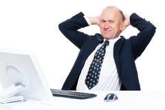 O homem de negócios tem uma ruptura imagens de stock royalty free