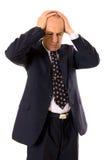 O homem de negócios teve problemas grandes Foto de Stock