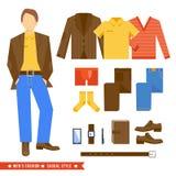 O homem de negócio veste ícones Fotos de Stock Royalty Free