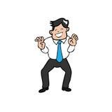 O homem de negócios agarra as mãos Imagem de Stock