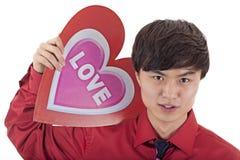 O homem do Valentim asiático Imagem de Stock Royalty Free