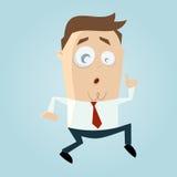 O homem dos desenhos animados sneaking Fotos de Stock Royalty Free