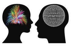Modos de pensar diferentes ilustração stock