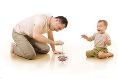 O homem e seu filho fotografia de stock royalty free