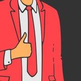 O homem em um terno mostra a mão como Imagens de Stock