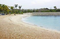 O homem fêz a praia fotografia de stock royalty free