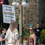 O homem gosta de Jesus Blessing Queers foto de stock royalty free